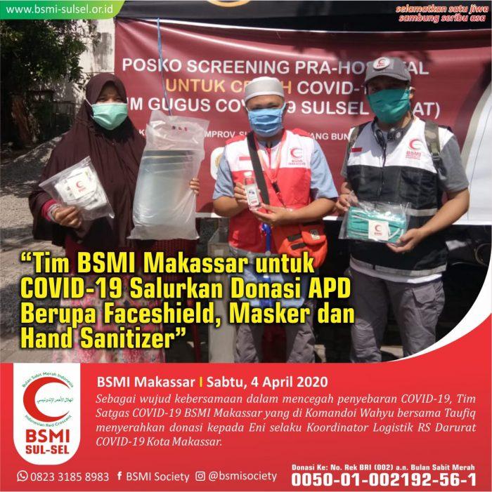 Relawan BSMI Makassar Bagikan APD
