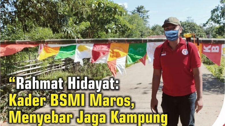 rahmat hidayat turun bersama relawan BSMI Maros